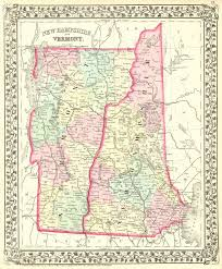 Map Vermont Morse U0027s Rail Road And Township Map Of Vermont And New Hampshire