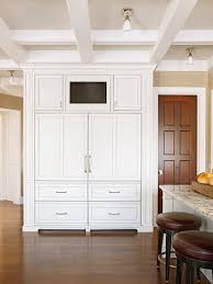 Fridge Cabinet Size Wood Paneled Refrigerator Transitional Kitchen Benjamin