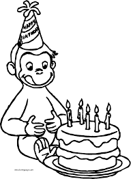 curious george monkey coloring pages wecoloringpage