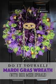 mardi gras deco mesh made by katy mardi gras wreath with deco mesh spirals