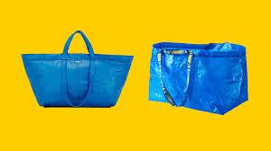 ikea responds brilliantly to the balenciaga blue bag