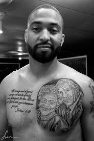 rihanna matt kemp s tattoos connected to ex boyfriend forever