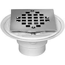 oatey 42237 pvc shower drain with snap tite square top stainless