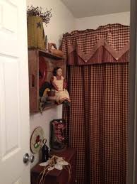 primitive bathroom decor shower curtains and accessories rural