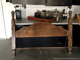 How To Make Fake Fireplace by Diy Faux Fireplace Mantel From An Old Bed Love Of Family U0026 Home