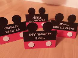 Mickey Mouse Table by Instant Download Food Labels Mickey Mouse Clubhouse Birthday