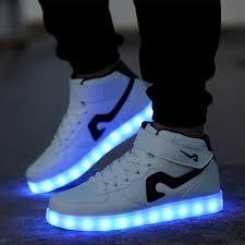 light shoes for mens tlfe 7 colors led light shoes men glowing high top sneakers men usb