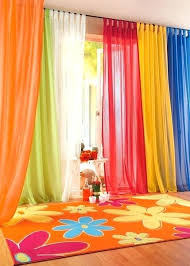 Bright Colored Curtains Bright Colorful Kitchen Curtains Decorating With Bright