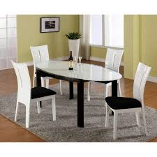 European Dining Room Furniture High Gloss Black And White Lacquer European Dining Table Set