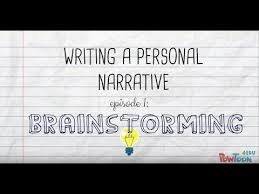 writing a personal narrative brainstorming a story for kids youtube