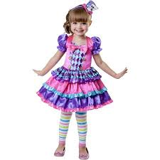 Mad Hatter Halloween Costumes Girls Mad Hatter Cutie Toddler Halloween Costume Walmart