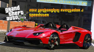 Lamborghini Aventador J Black - 2012 lamborghini aventador j speedster grand theft auto 5 mod