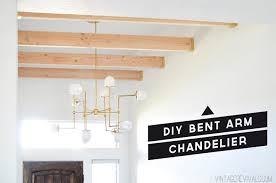 Wire Chandelier Diy Diy Bent Arm Chandelier U2022 Vintage Revivals