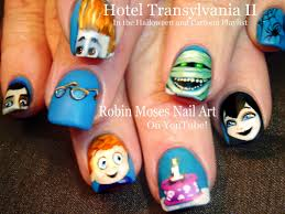 hotel transylvania nails diy halloween nail art design tutorial