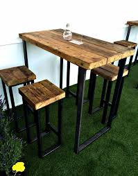 High Top Patio Dining Set with High Outdoor Dining Table Outdoorlivingdecor