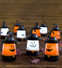 led jack o u0027 lantern lights set of 4 halloween decorations our