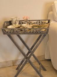fabriquer une table pliante table pliante desserte patinée avec plateau amovible meubles et