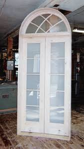 french doors with frosted glass arch top transom window gothic mullion interior double french door