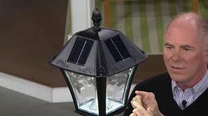 gama sonic solar lights gama sonic 6 solar l post with planter ez anchor on qvc youtube