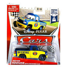 Hoover Flag Amazon Com Cars Piston Cup Dexter Hoover W Flag Die Cast Vehicle