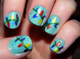 Christmas Light Nails by The Nail Diaries December 2012