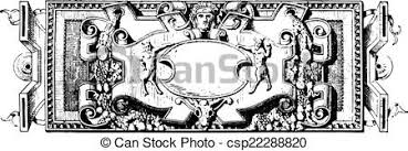 ornament renaissance sculpture vintage engraving vector