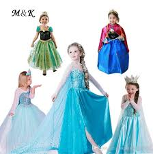 Princess Halloween Costumes Kids Cartoon Frozen Elsa Anna Princess Dress Halloween Costume Kids