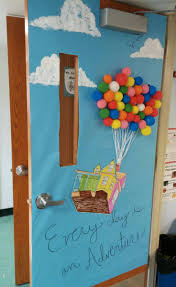 classroom door decor for up disney pixar adventure