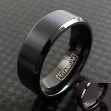 Mens Black Wedding Rings by Mens Titanium Wedding Bands Ebay