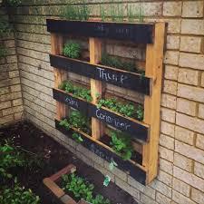 diy pallet vertical herb garden hanging planter vertical herb