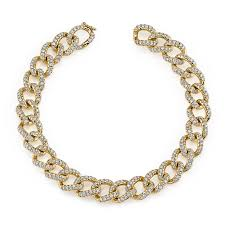 chain link bracelet gold images Small diamond chain link bracelet anita ko jpg