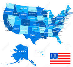 Colorado Usa Map by United States Usa Map Flag And Navigation Icons Illustration