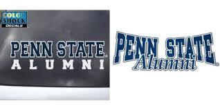 penn state alumni sticker penn state car sticker sticker creations