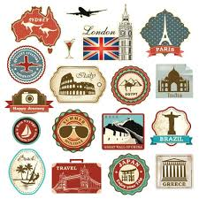 imagenes vintage viajes retro vintage travel suitcase stickers set of 18 luggage decal