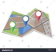 Map Icon Map Icon Vector Colored Location Icon Stock Vector 483460159