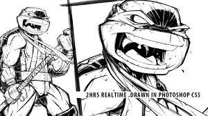 speed drawing teenage mutant ninja turtles donatello