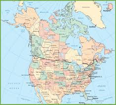 Map Of Southern Usa by Download Map Of Canada And The Usa Major Tourist Attractions Maps
