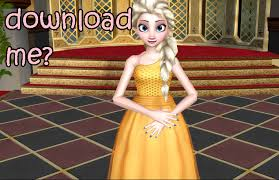 download golden ball elsa model mmd hack deviantart