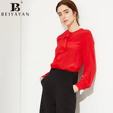 Black Blouses For Work Online Buy Wholesale Silk Blouses For Work From China Silk Blouses
