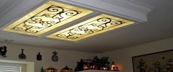Fluorescent Light Fixtures For Kitchen Fluorescent Light Covers Ceiling Panels Absolutely Beautiful