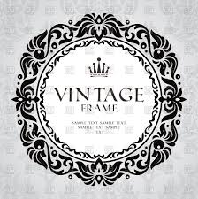 vintage decorative frame with foliar ornament vector clipart