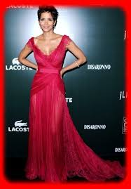 beautiful red dress style with halle berry 0