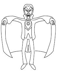halloween vampire coloring pages virtren com