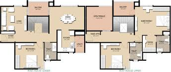 Sq Ft 1800 Sq Ft 3 Bhk 3t Apartment For Sale In Golden Gate Panorama