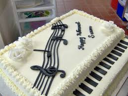 a piano cake for a musically inclined clients retirement my