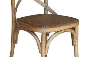 Cross Back Bistro Chair Classic French Style Cross Back Bistro Chair In Solid Oak