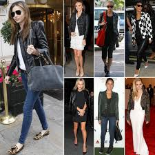 leather jackets celebrities wearing leather jackets popsugar fashion