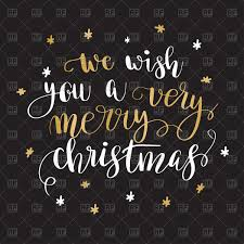 we wish you a merry quote royalty free vector clip