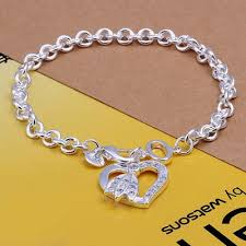 sterling bracelet with heart charm images Charm bracelet and more fashion jewelry online sale from bellast jpg