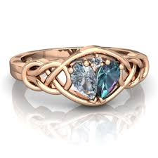 what does a knot ring aquamarine and lab alexandrite celtic knot ring r5420 raqca